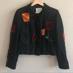 Moschino cheap and chic patchwork blazer